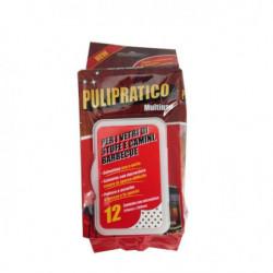 PULIPRATICO - 12 Salviettine pulizia termocamini e stufe usa e getta