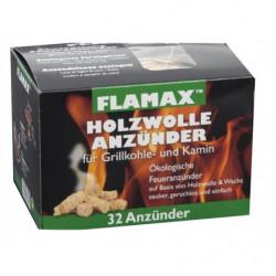 FLAMAX - Accendifuoco ecologico paglierino 32 pezzi